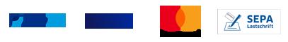 Zahlungsarten: Paypal - Visa - Mastercard - SEPA